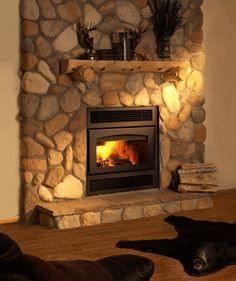 The Kozy Heat Z42 wood-burning fireplace JUST GOT OURS FOR OUR NEW HOUSE - CAN'T WAIT TO LIGHT IT!