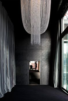wintergarden, northern club, aukland/penny hay interior architect via: pennyhay Interior Architecture, Interior And Exterior, Interior Design, Hotel Restaurant, Decoration, Interior Inspiration, Design Inspiration, Lighting Design, Chandeliers