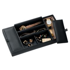 Jewelry Holders125-3, ROYCE LEATHER MEN'S VALET TRAY