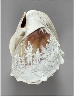Diana at the hunt. Диана на охоте. Naples(probably, made) Italy 1850 (made) Carved helmet shell