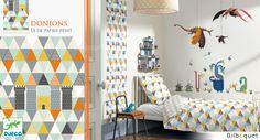 Lé de papier peint Donjons Little Big Room by Djeco - Chambre Arthur