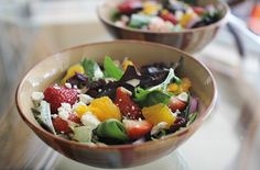 Grammy Drea's Green & Fruity Side Salad Feta Salad, Salad Bowls, Fruit Salad, Dinner Salads, Side Salad, Ranch Dressing, Salad Recipes, Main Dishes, Favorite Recipes