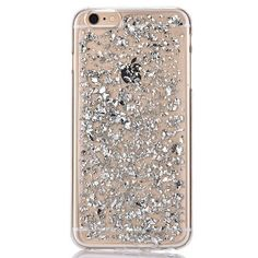 Silver Glitter Flakes Phone Case For iPhone