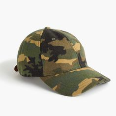 cffe5bdc J.Crew Mens Wallace & Barnes Wool Ball Cap In Camo J Crew, Baseball