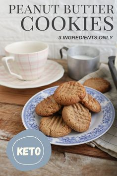 Who wouldn't want cookies for breakfast? #keto #breakfast #recipes #ketorecipes #brunch #peanutbuttercookies #cookies #peanutbutter #weightloss #food #easyrecipes #baking #ketodessert #dessert Cookie Recipes, Keto Recipes, Keto Peanut Butter Cookies, Baking Pans, 3 Ingredients, Breakfast Recipes, Almond, Brunch, Board