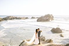 Simply put, we just love howAlex + Josh did things for their big day. Their actual wedding wasan intimate celebrationon the stunning cliffs of Big Sur in California. And a month later they hosted a huge party reception in a cornfield in Ohio, filled with all the people and things they love: music, pies, corn...