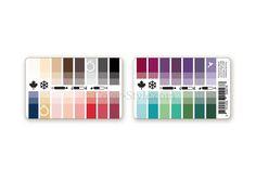Karten-Farbpass Herbst-Winter mit 30 Farben