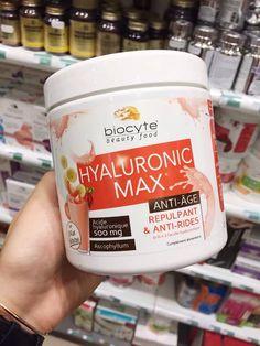 Biocyte玻尿酸草莓香蕉口味,高含量的玻尿酸分,每瓶含有10g玻尿酸,每次衝飲就會有500mg玻尿酸補進體內!而且配方改良後體制再不好都能輕鬆吸收,幫助肌膚補充水分抗衰老!每天取14克(大概2勺)放入100ml水中攪拌服用即可280g