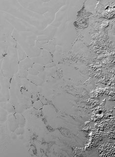 The nitrogen ice glaciers on Pluto appear to carry an intriguing cargo: numerous, isolated hills that may be fragments of water ice from Pluto's surrounding uplands.