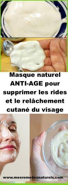 Masque naturel ANTI-AGE pour supprimer les rides et le relâchement cutané du visage