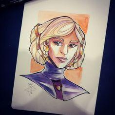 Irulan of House Corrino #dune #princessirulan #watercolors by emedeme91