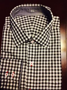 Black and white with red stitching J Hilburn.