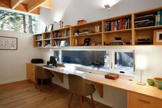 Top 10 Stunning Home Office Design - Site Home Design Home Office Space, Home Office Design, House Design, Office Style, Architecture Courtyard, Architecture Design, Casa Patio, Courtyard House, River House