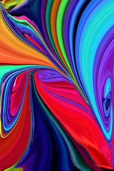 Chris Butler Abstract Art on Fine Art America ❤❦❤ .Check this out: artcaffeine. Contemporary Abstract Art, Modern Art, Wow Art, World Of Color, Fractal Art, Rainbow Colors, Amazing Art, Fine Art America, Art Projects