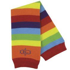 BabyLegs organic legwarmers in Rainbow, a multi-color stripe