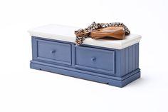 Sitzbank LaMer II Brilliantblau Passend zum Möbelprogramm LaMer 1 x Sitzbank mit 2 Schubkästen Maße: B/H/Tca. 120 x 40 x 40 cm Korpus / Front:...