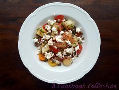 Melon Tomato and Feta Salad | A Cookbook Collection