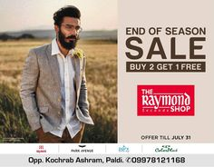 #Sale Hurry Up & Drop by us at The Raymond Seconds Shop - Paldi to check out our End of Season Sale !  #EOSS #EndofSeasonSale #RaymondStore #Ahmedabad #SaleTime #SaleFoffer #SaleNow #RaymondSecondsShop #Raymond