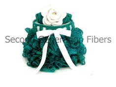 2T size teal ruffle skirt with matching headband $45.00 www.2ndgenerationfibers.etsy.com #craftshout0119