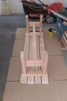 bench for porch/garden real easy think I will paint mine diffent colors... ya