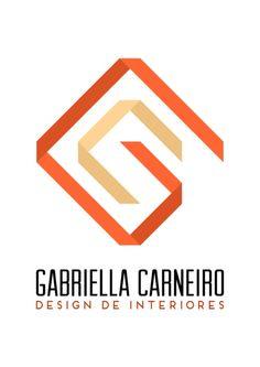 Logotipo para Gabriella carneiro, design de interiores.