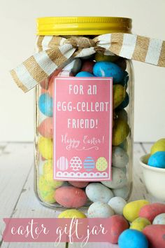 Cute Easter gift idea with printable