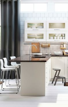 Best Beautiful Grimslov Medium Brown Ikea Kitchen Cabinets 400 x 300