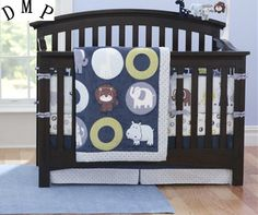 94.00$  Watch now - http://alibt4.shopchina.info/1/go.php?t=32604636366 - Promotion! 7pcs Embroidery baby bed sheet bedding set soft crib cheap linen cot set,include (bumpers+duvet+bed cover+bed skirt)  #magazine
