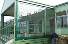 These are commonly fixed to terraces, lawns and patios - to give outside areas protection from wind and rain. - To cover patio doors protect from wind? Pergola Attached To House, Deck With Pergola, Pergola Shade, Pergola Patio, Pergola Plans, Pergola Kits, Backyard, Pergola Ideas, Patio Roof