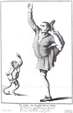 """CLARK the English Posture Master"" from ""Cryes of the City of London Drawne after the Life"" by Marcellus Laroon (1687)"