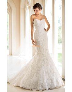 Col en cœur Chic & Moderne Lacets Robes de mariée de luxe