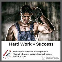 Hard work = success.