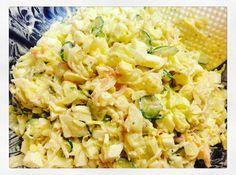 """「卵とキャベツ、カニカマのサラダ」  """"Crab Stick, Cabbage and Egg Salad"""" 1900pm - 0230am  #nonsmokingbar  http://ift.tt/2dy7rKB"""