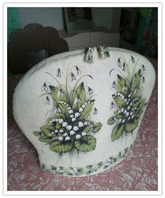 Lily of the valley tea cosy. fabric cozy. keep your tea pot warm. floral kitchen ware. $15.00, via Etsy.