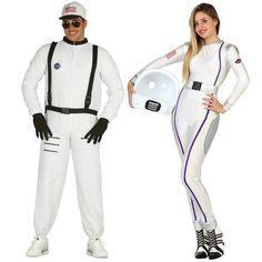Pareja Disfraces de Astronautas Americanos #parejas #disfraces #carnaval