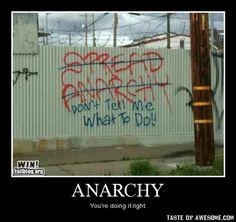 #fightthesystem #anarchy #demotivational