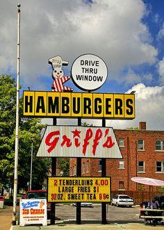 Stuck in the mid-century?....Griff's in Sedalia, Missouri.