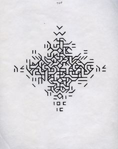 Mary Martin Drawing for Cross 1968 pen on paper