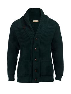 Scott and Charters Tartan Green Shawl Collar Cardigan