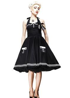 Robe année 50's rockabilly Sailor- Motley