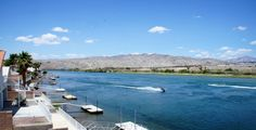 Bullhead City, AZ and the Colorado River. View of the Colorado River from on a beautiful day. Search All Colorado Riverfront Homes for Sale HERE!