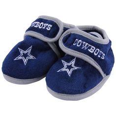 Dallas Cowboys Infant Plush Slippers - Navy Blue