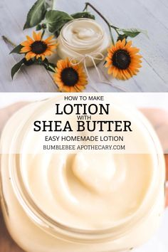 How to Make Lotion with Shea Butter I love this homemade lotion recipe! It's light and isn't greasy at all. It's also simple and pure, and easy to make. I love trying different essential oil blends to scent it! How to Make Lotion with Shea Butter Homemade Body Butter, Homemade Soap Recipes, Homemade Skin Care, Homemade Beauty Products, Diy Skin Care, Homemade Face Lotion, Beeswax Recipes, Shea Butter Body Lotion, Coconut Body Scrubs