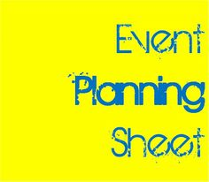 youth group event planning sheet