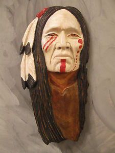 Native American Indian Wood Carvings | Wood Carving Wood Spirit Native American Indian Warrior Strong | eBay