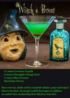 RECIPE:  Hocus Pocus Witch's Brew. Hocus Pocus Halloween Party Decorations & Menu Ideas