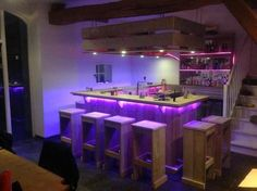 """Outstanding """"bar furniture ideas"""" detail is available on our web pages. Read more and you wont be sorry you did. Basement Bar Designs, Home Bar Designs, Diy Pallet Furniture, Bar Furniture, Palette Wall, Pub Sheds, Bar A Vin, Coffee Bar Home, Bois Diy"""