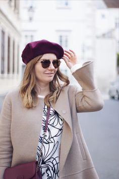 Streetstyle Herbst Outfit mit Baskenmütze