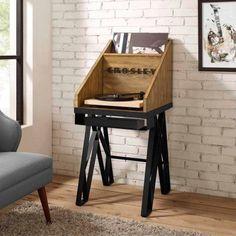 Crosley Furniture Brooklyn Turntable Stand, Natural