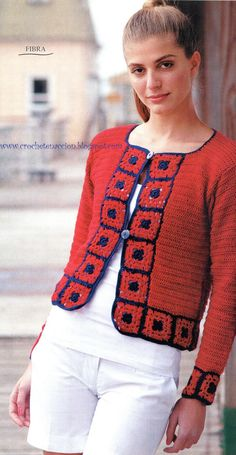 Crochet Jacket, Jacket Pattern, Crochet Patterns, Men Sweater, Sweaters, Jackets, Image, Diagram, Fashion